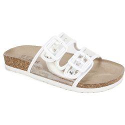 White Mountain Womens Hilda Clear Sandals