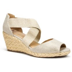 White Mountain Womens Hudlin Wedge Sandals
