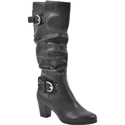 Rialto Womens Farewell Buckle Tall Boots