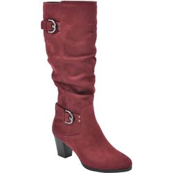 Rialto Womens Farewell Buckle Tall Boots