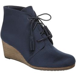 Dr. Scholl's Womens Dakota Wedge Ankle Boots