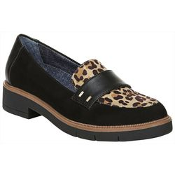 Dr. Scholl's Womens Grow Up Leopard Loafers