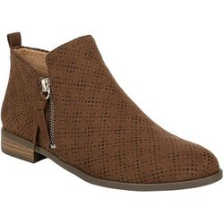 Dr. Scholl's Womens Rate Zip Up Ankle Boots