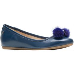 Hush Puppies Womens Heather Puff Leather Flats