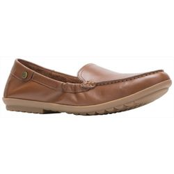 Hush Puppies Womens Aidi Leather Moccasins