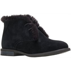 Hush Puppies Womens Bailey Fur Chukka Boots