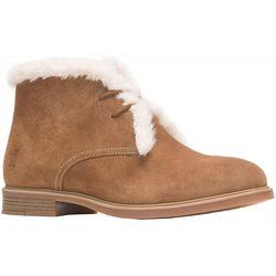 Hush Puppies Womens Bailey Fur Chukka Boots