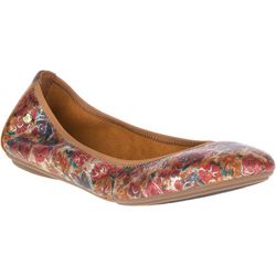 Hush Puppies Womens Floral Chaste Leather Ballet Flats