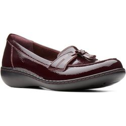 Clarks Womens Ashland Bubble Leather Loafer