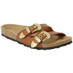 Bayton Womens Peta Buckle Slide Sandals