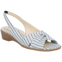 LifeStride Womens Mimosa 2 Striped Slingback Sandals