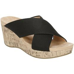 Womens Donna Wedge Slide Sandals