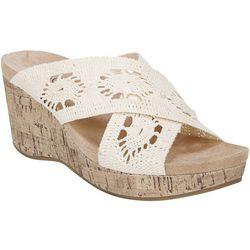 LifeStride Womens Donna Perforated Wedge Sandals