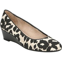 LifeStride Womens Hadley Leopard Wedge Shoes