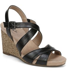 LifeStride Womens Harbor Wedge Sandals