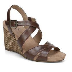LifeStride Womens Harbor Wedge Sandals