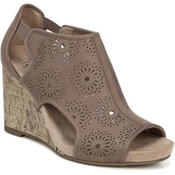 LifeStride Womens Hinx Floral Cut-Out Wedges