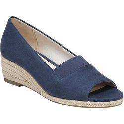 LifeStride Womens Sola Peep Toe Wedge Shoes