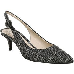 LifeStride Womens Pearla Plaid Slingback Heels