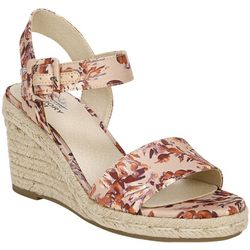 LifeStride Womens Tango Floral Espadrille Sandals