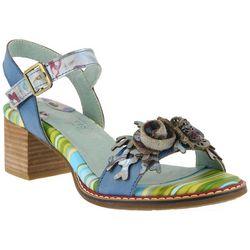 Spring Step Womens L'Artiste Aradya Floral Sandals
