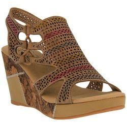 Spring Step Womens L'Artiste Irvana Wedge Sandals
