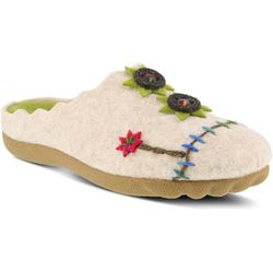 Spring Step Womens Flexus Piketfens Wool Slippers