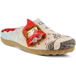 Spring Step Womens Flexus Lilred Wool Slippers