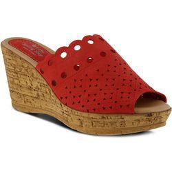 Spring Step Womens Nava Wedge Slide Sandal