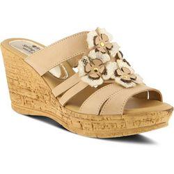 Spring Step womens Rositsa Floral Slide Sandal