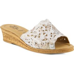 Spring Step Womens Estella Floral Slide Sandals