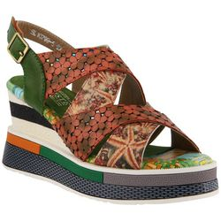 Spring Step Womens L'Artiste Akosa Block Sandals