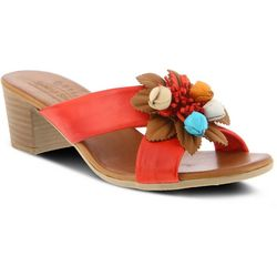 Spring Step Womens Bouquet Floral Sandals