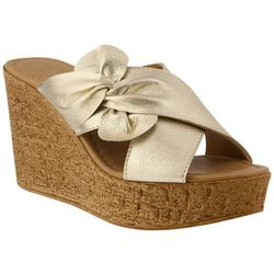 Spring Step Azura Womens Veria Bow Wedge Sandals