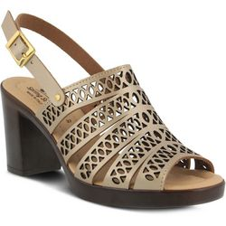 Spring Step Womens Etelvina Laser Cut Sandals