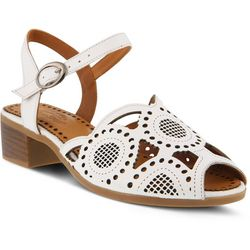 Spring Step Womens Laverra Laser Cut Sandals