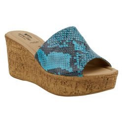 Spring Step Womens Mercury Snake Print Slides