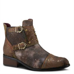 Spring Step Womens L'Artiste Nailhead Ankle Boots