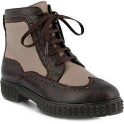 Spring Step Womens Azura Manele Brown Ankle Boots