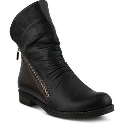 Spring Step Womens Azura Dhuna Black Ankle Boots