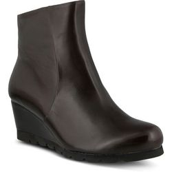 Spring Step Womens Ravel Pull On Wedge Bootie