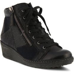 Spring Step Womens Lilou Wedge Sneaker