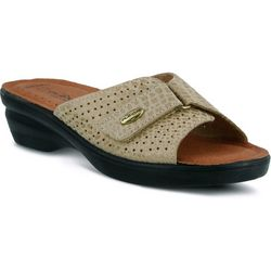 Spring Step Womens Flexus Carrie Slide Sandals