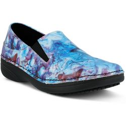 Spring Step Womens Manila Blue Multi Shoes