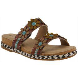 Spring Step Womens L'Artiste Resort Floral Slide Sandals