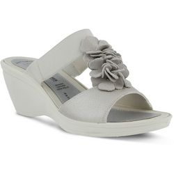Spring Step Womens Flexus Gather Wedge Sandals