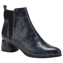 Spring Step Womens Chixe Python Ankle Bootie