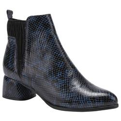 Womens Chixe Python Ankle Bootie