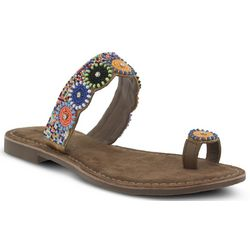 Spring Step Womens Azura Glint Slide Sandals