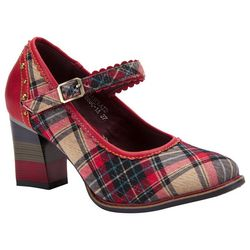 Spring Step Womens L'Artiste Emjay Plaid Mary Jane Heels